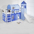 upali-dreams-pirates half-high bed with slide blue-blue
